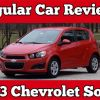 Regular Car Reviews: 2013 Chevrolet Sonic