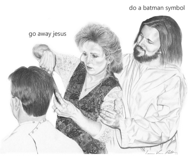 Jesus Is A Jerk, Batman Symbol
