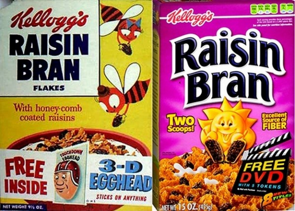 Cereal Boxes Then And Now
