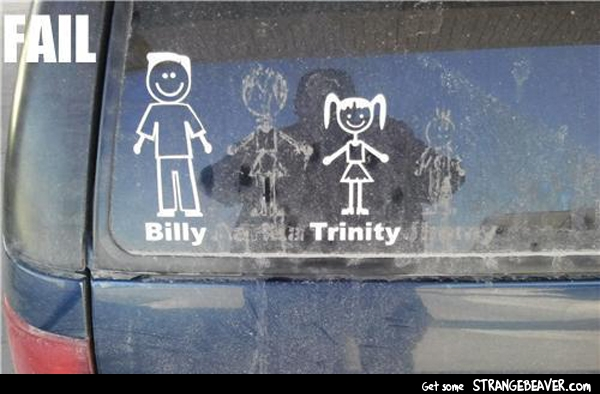 funny family window sticker pictures