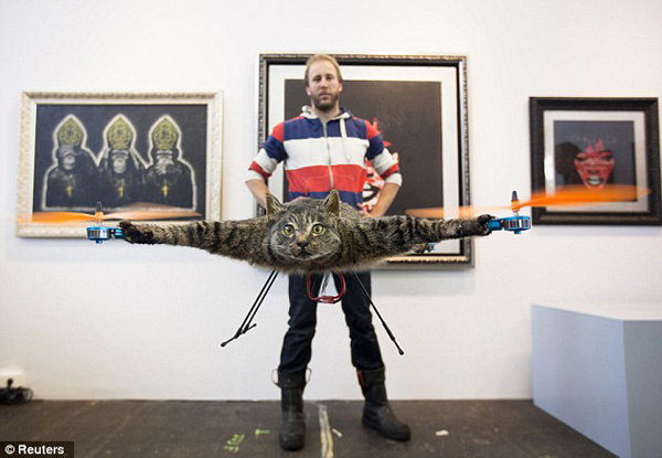 dead cat turned into helicopter