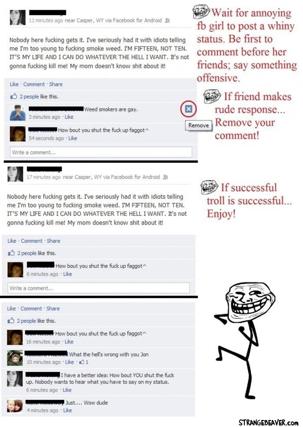 how to troll facebook