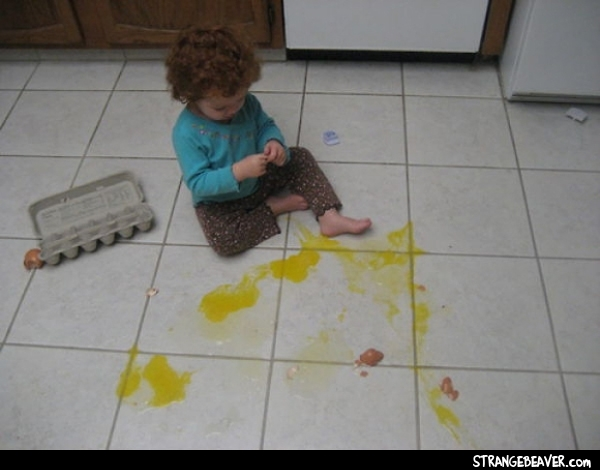 funny things ruined by kids