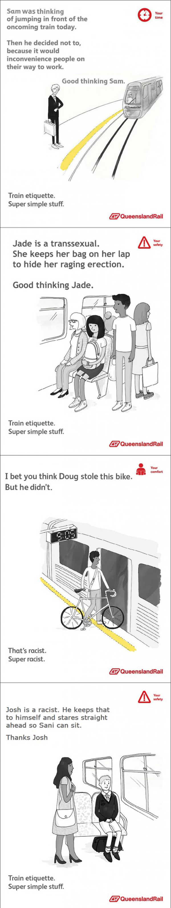 queensland rail funny psa