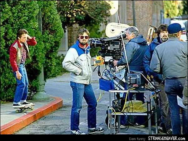 pictures from behind the scenes of back to the future