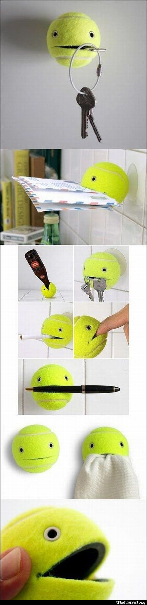 cool tennis ball hanger