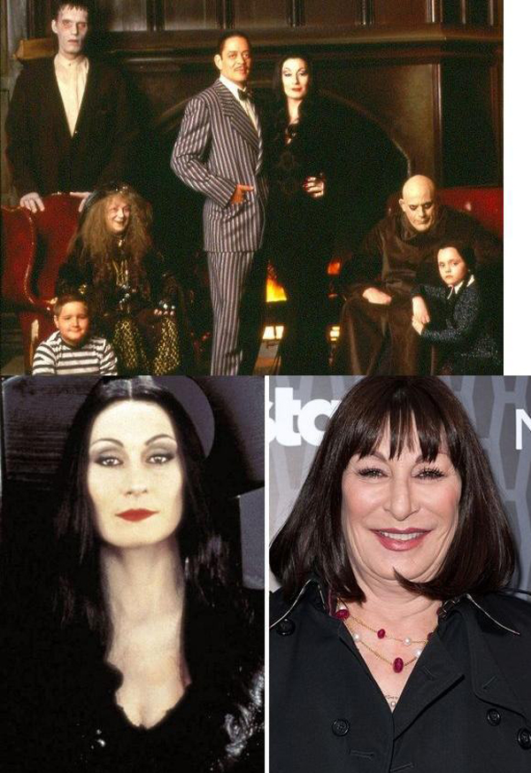 adams family cast then and now