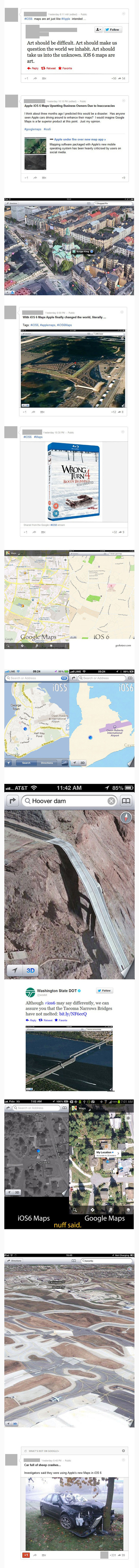 funny apple maps