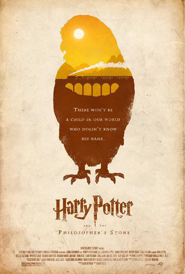 minimalistic harry potter movie posters