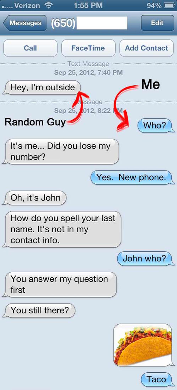 wrong number text trolling