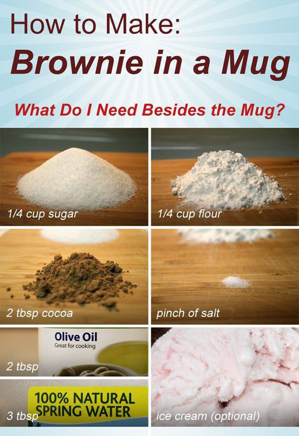 how to make a brownie in a mug