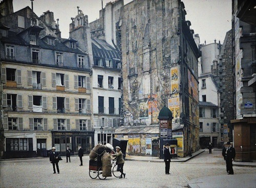 colored pictures of paris 1914