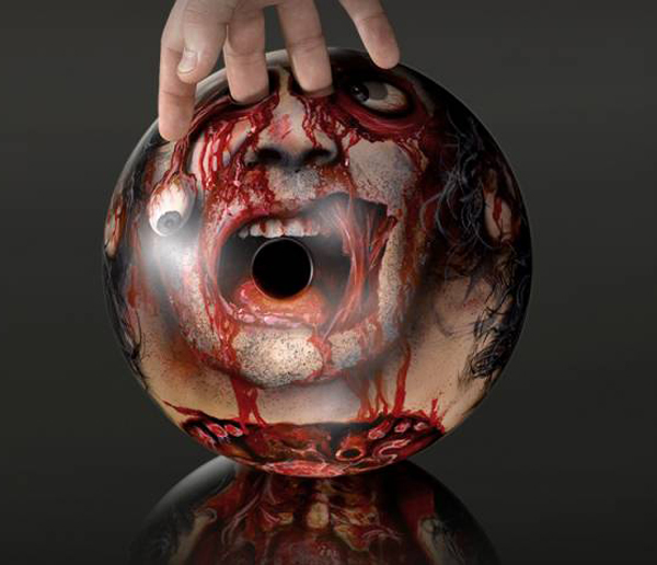 severed head bowling ball