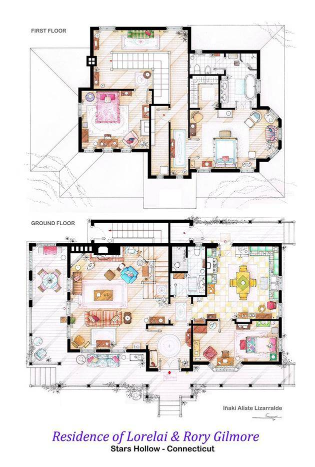 Floor Plans Of Movie And TV Show Homes Strange Beaver – Floor Plans Of Tv Homes