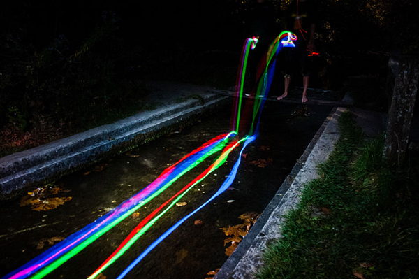 glow stick photography