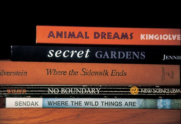 sorted books by nina katchadourian