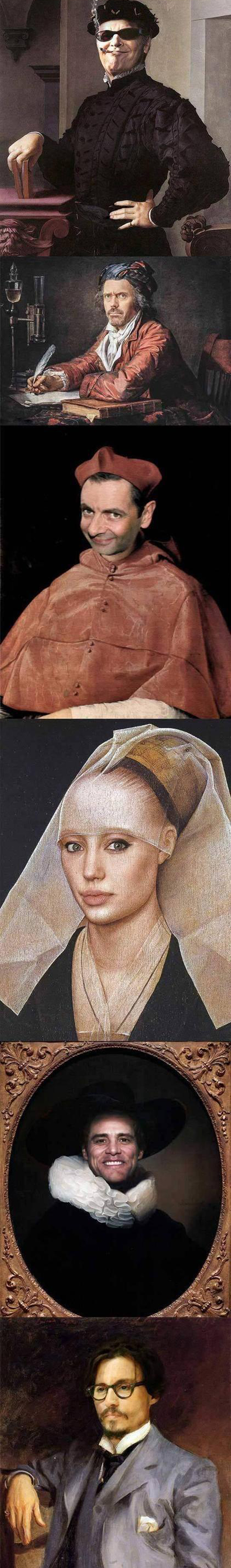 famous paintings with celebs