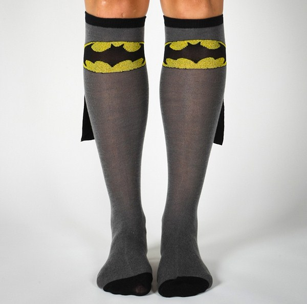 super hero socks with capes