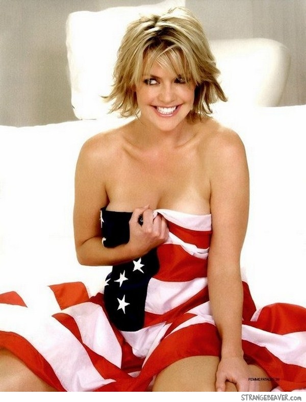 american flag sexy hot girl