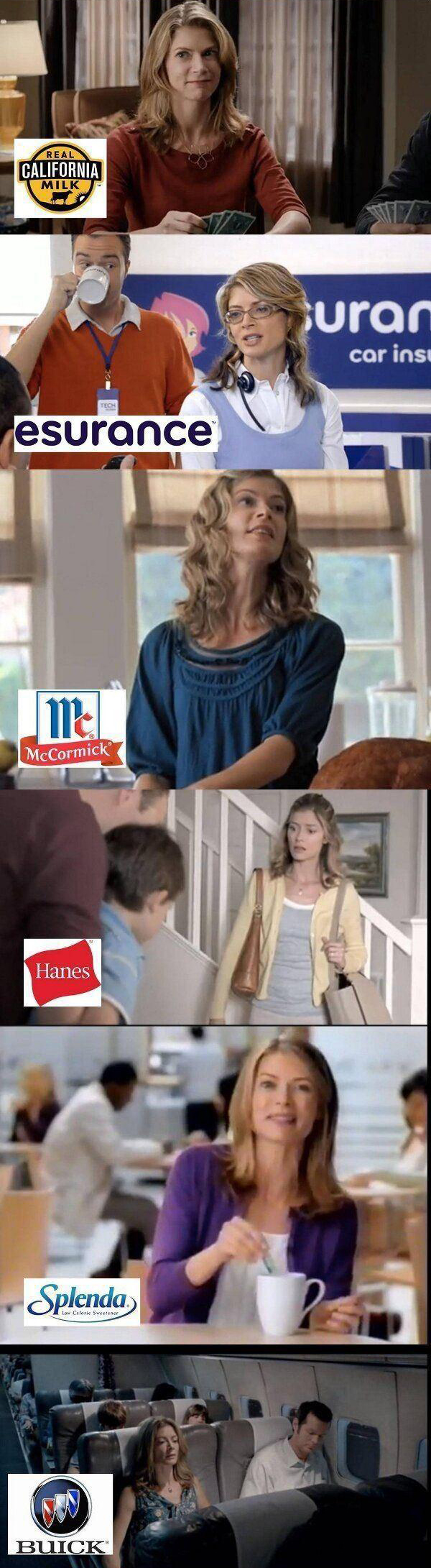 lady is in lots of commercials