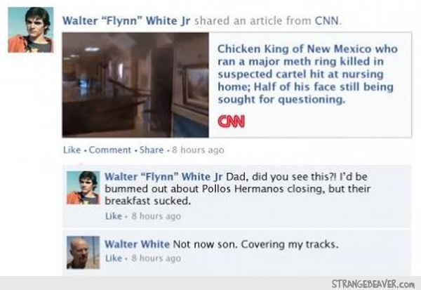 breaking bad facebook feed
