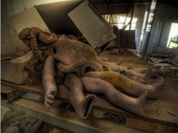 abandoned doll factory in spain