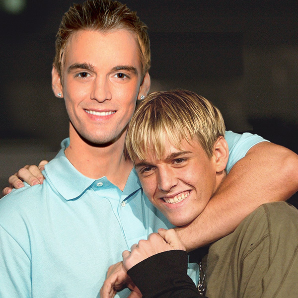Celebrities Posing With Younger Versions Of Themselves-Aaron Carter