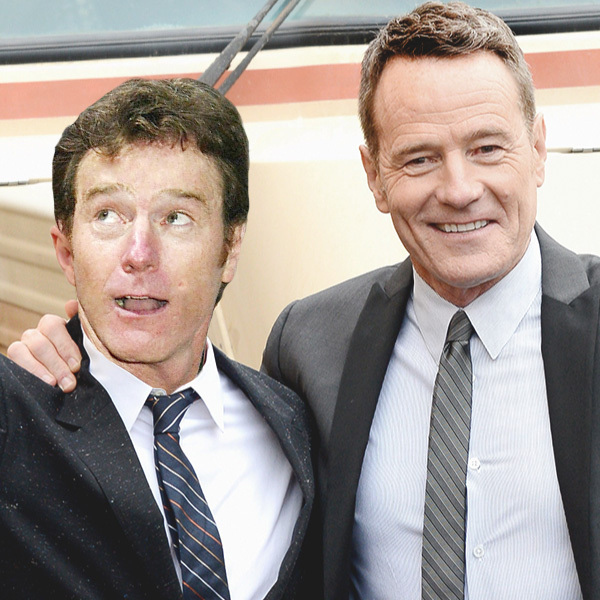 Celebrities Posing With Younger Versions Of Themselves-Bryan Cranston