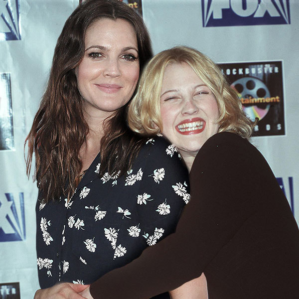 Celebrities Posing With Younger Versions Of Themselves-Drew Barrymore