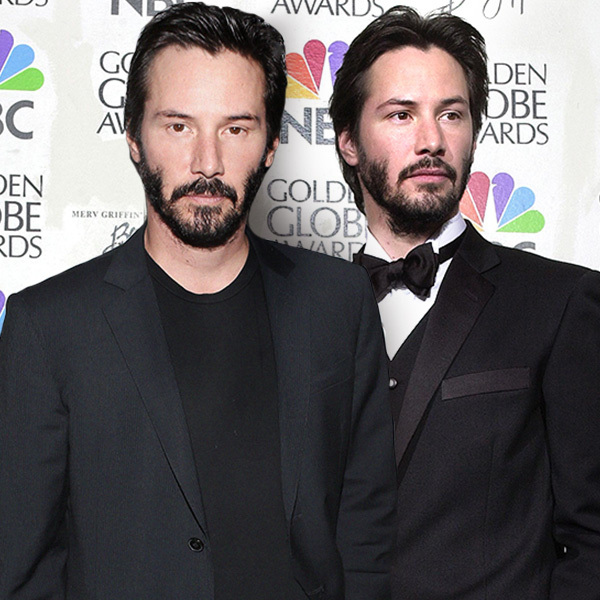 Celebrities Posing With Younger Versions Of Themselves-Keanu Reeves