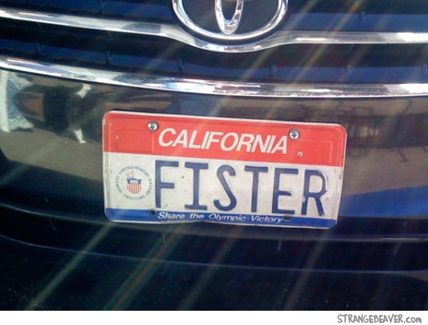 funny car license plates