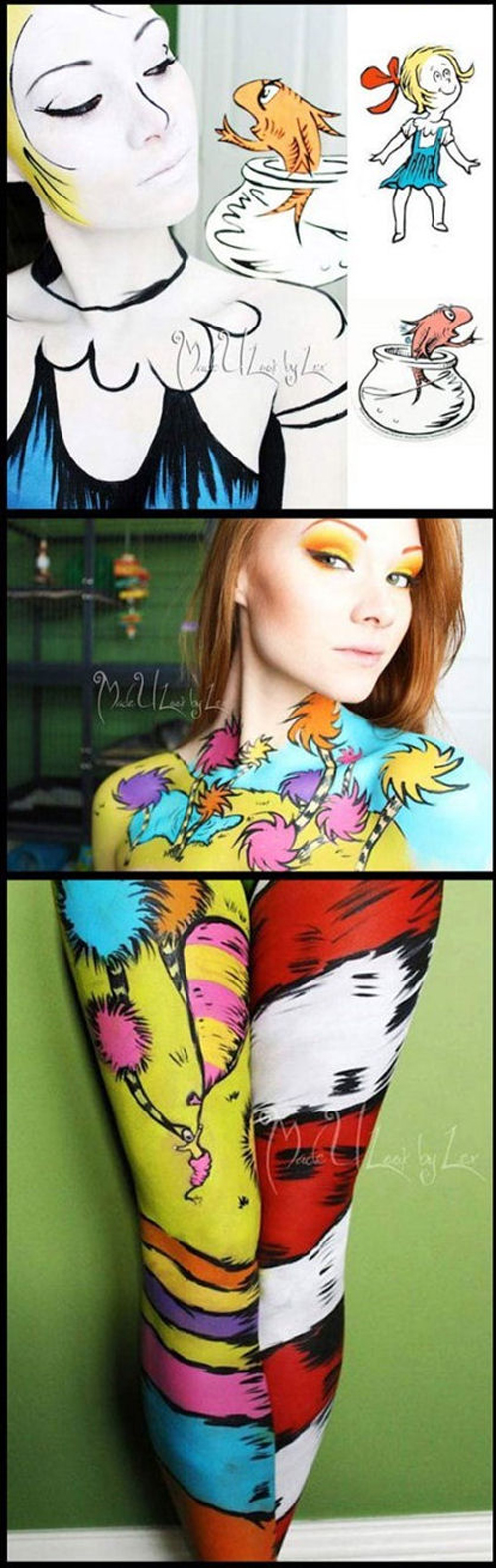 dr suess body paint