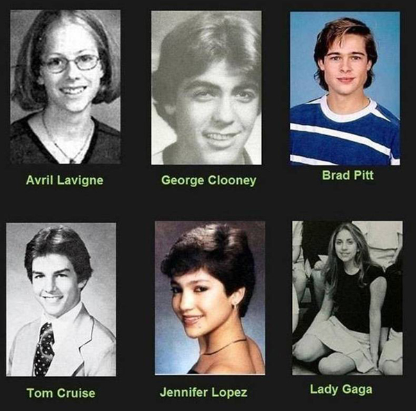 celebrity yearbook pictures