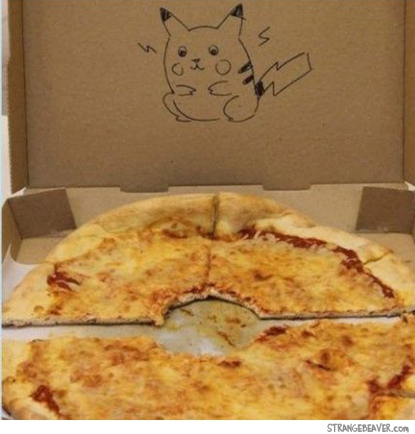 funny pizza box