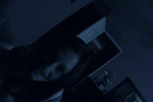 last scene of Paranormal Activity as possessed Katie lunges for the camera