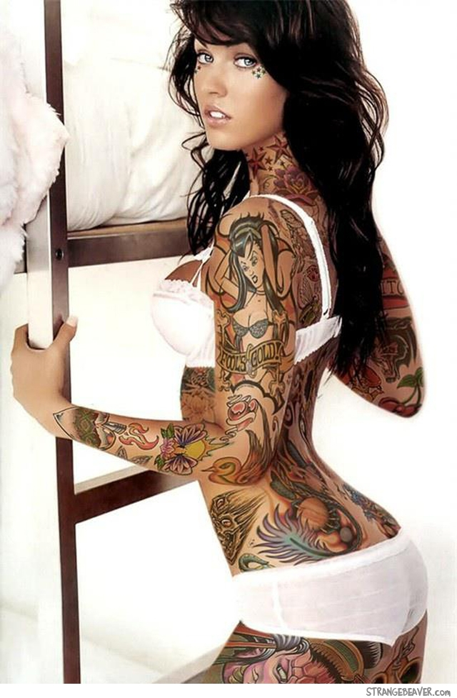 Beautiful Girl With Tattoos