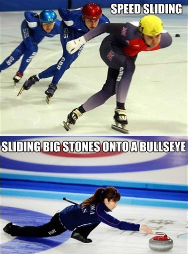 most winter Olympic sports are just sliding
