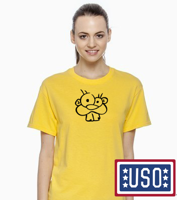 yellow basic beaver t-shirt