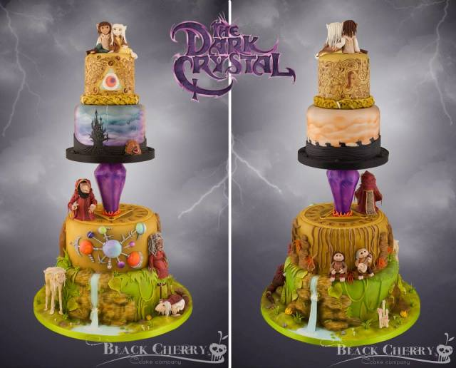 Dark Crystal Wedding Cake