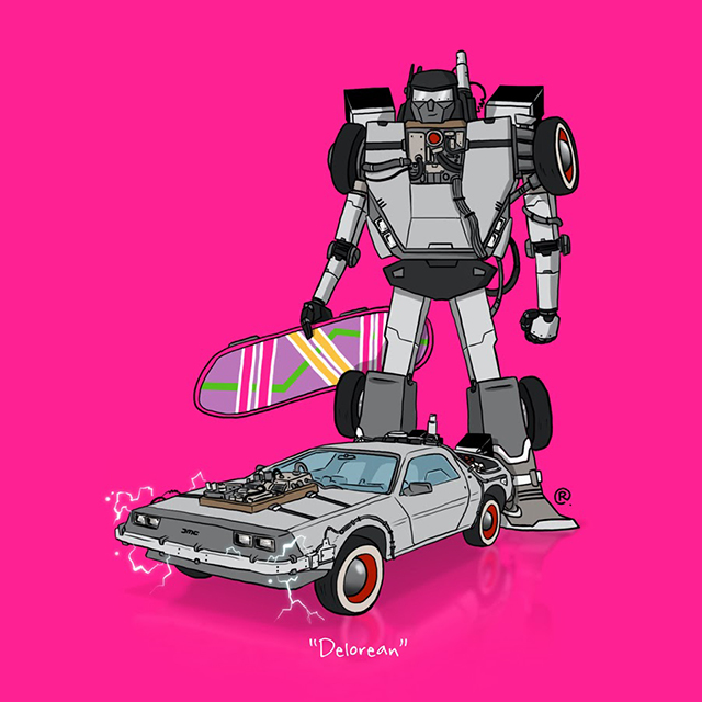 back to the future delorean transformer