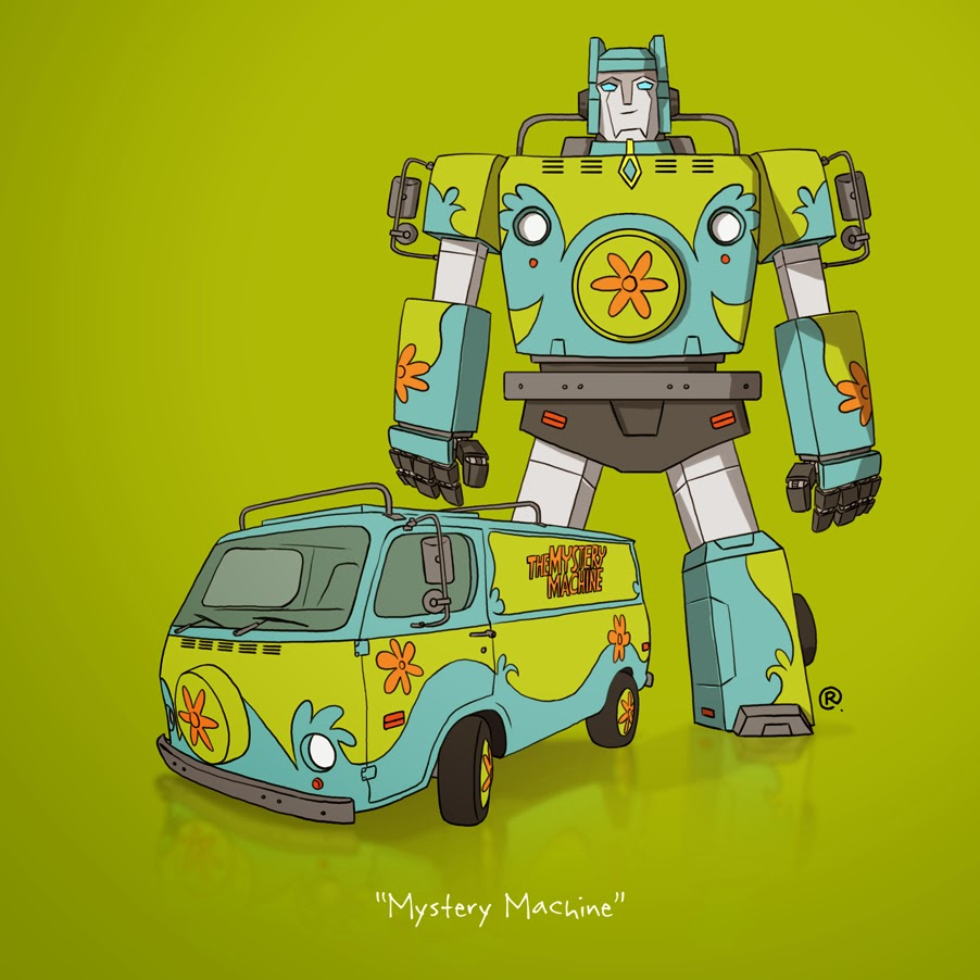 scooby doo mystery machine transformer