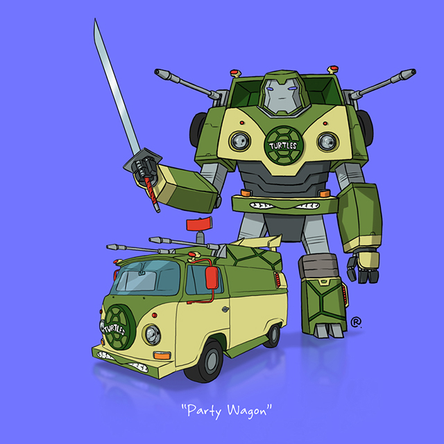 tmnt party wagon transformer