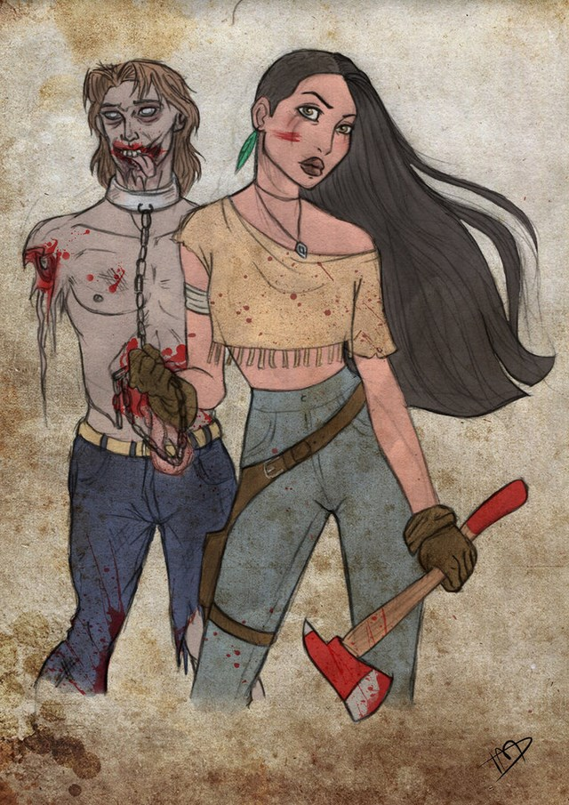 walking dead disney characters