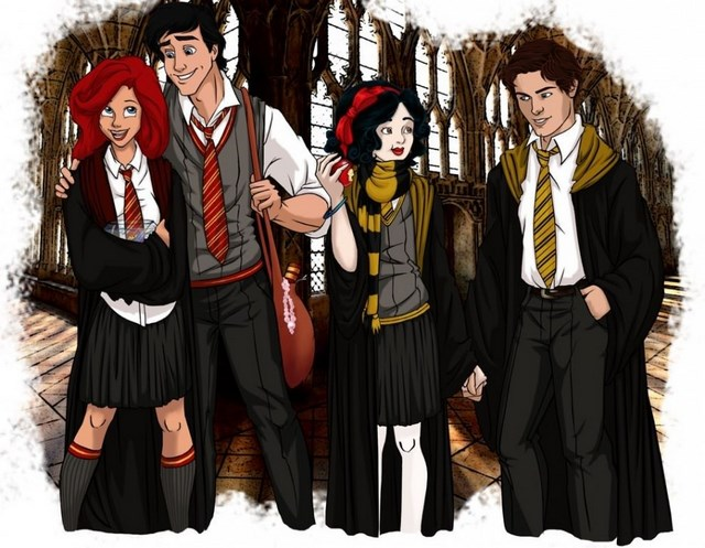 disney characters at hogwarts