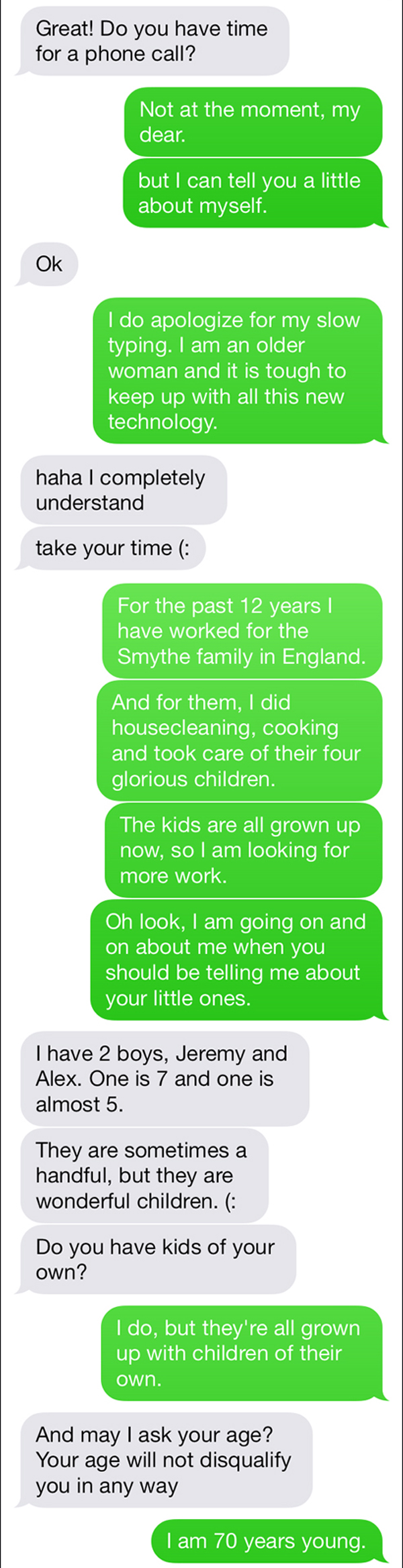 Nanny For Hire Text Trolling Strange Beaver