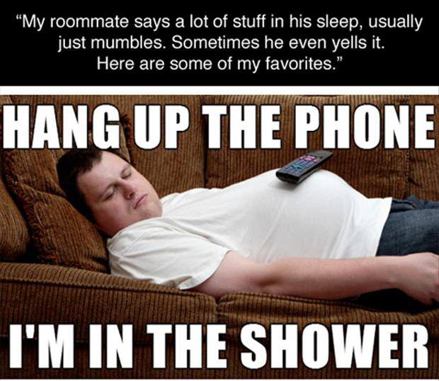 deep thoughts sleeping roommate meme