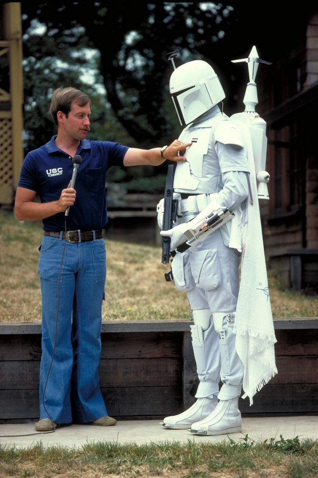 star wars behind the scenes - boba fett costume testing