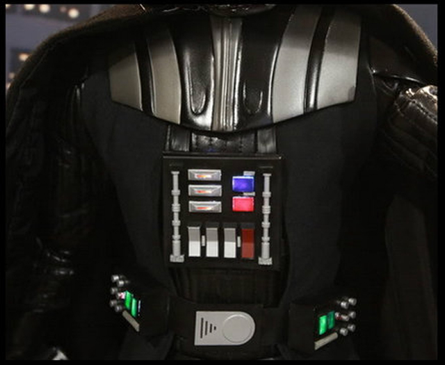 details on darth vader's armor suit