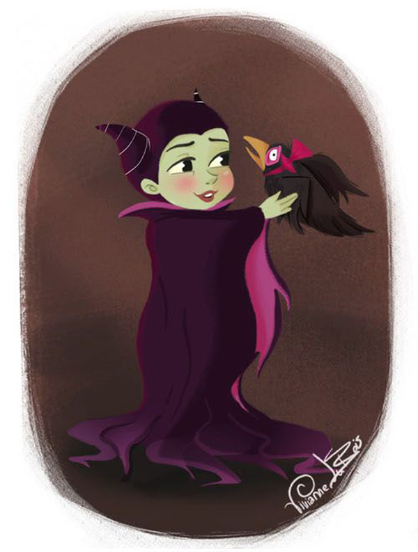 Disney Villian Maleficent as a cute baby