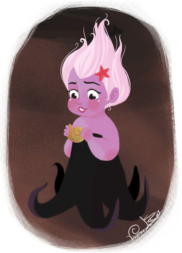 Disney Villian Ursula as a cute baby